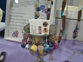 My little pony earrings on my table by Iwasonceafairytale