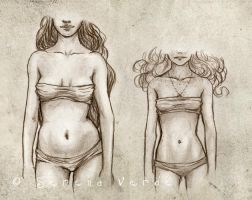 Animae - Body Types: the girls by SerenaVerdeArt