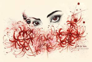 Red spider lily by jen-and-kris