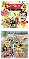 Comic Book Christmas Album Collection by BillWalko