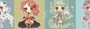 [CLOSED] {AUCTION} Chibi Adoptables by maributt