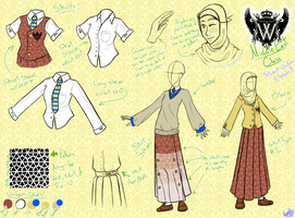 Gakuen Hetalia-Middle East Class :Female Uniforms: by M-u-n-c-h-y