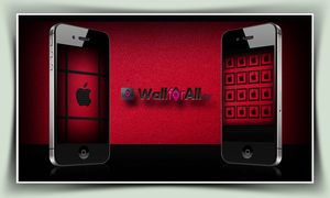 red_black_iPhone by WallforAll