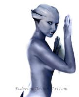 Ready to fly with me? Asari Digi painting by Euderion