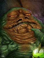 Jabba The Hutt by Fluorescentteddy