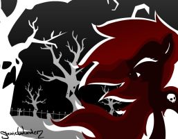 Halloween Art: Giggle at the Ghastly Trees by StevieWunderz