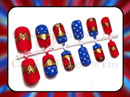 Wonder Woman Nail Art by Classikelly