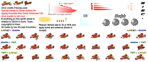 SaASRT: Knuckle's Vehicle Sprite Sheet by Nikko62