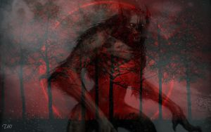 Bloodred and The Werewolf by CeliinieAkATina