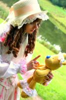 Doll with bear 2 by LadyDeRascole