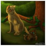 Wolfkit and Peachpelt by leaderofmoonclan