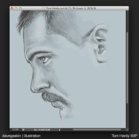 Tom Hardy in progress by BikerScout