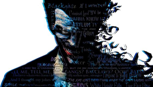 Typography Portrait - The Clown Prince of Crime by Versanthus