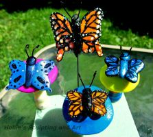 Butterfly plant stakes by HollieBollie