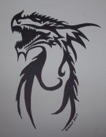 Dragon Tattoo Design by foxkat