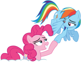 Pinkie Pie and Rainbow Dash by CloudyGlow