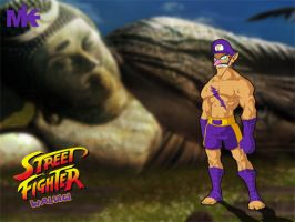 Street Fighter Waluigi by MightyMusc