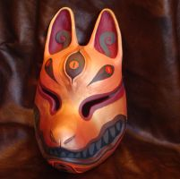 Kitsune mask gold by missmonster