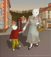 Walking Home - Rupert and Mrs Bear by alicelights