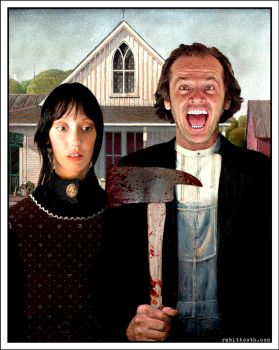 A Shining Gothic ( The Shining / American Gothic ) by Rabittooth