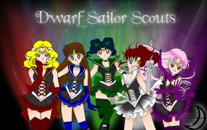 The Dwarf Sailor Scouts by princessfromthesky