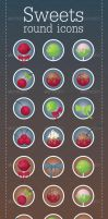 Sweets - Round Icons by InterGrapher