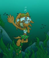 Tikal And The Seaweed by darkrazor64