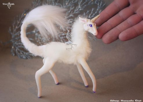Miniature Unicorn by Flicker-Dolls