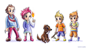 Mother 3 Characters by Kanis-Major