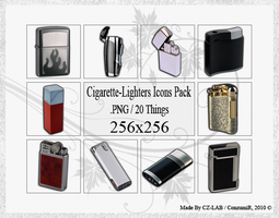 Cigarette-Lighters Icons Pack by conzumir