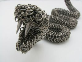 Rattler Maille Sculpture by BorealisMetalWorks