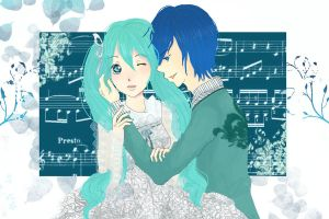 Intertwined: Miku x Kaito by sheepsgobaaa