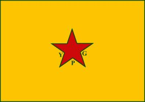 Flag of YPG - Kurdistan by Hellenicfighter