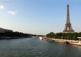 River Seine near the Eiffel Tower by EUtouring