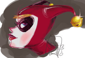 Harley Sketch-color by picklenation