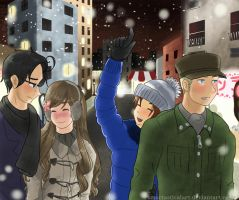 APH- Winter Double Date by SmartasticalArt