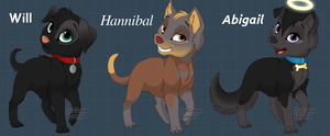 Murder family - style 2 - puppies by FuriarossaAndMimma