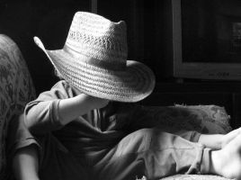 Large Hat On Small Child by PamplemousseCeil
