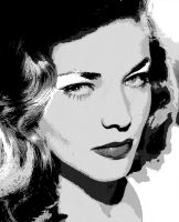 Lauren Bacall - Vectored 1 by musicgal3