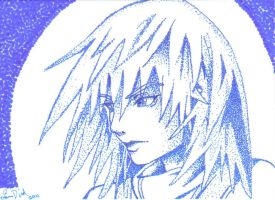 Riku stippling ACEO card by LadyNin-Chan