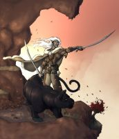Drizzt at Dawn by Mitchninja