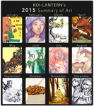 Koi-Lantern's 2015 Summary of Art by Koi-Lantern
