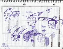 Bored Planner Sketches... by XxMoonlightWolveXx