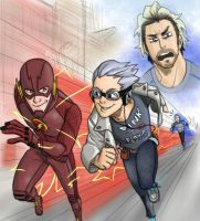 Flash vs Quicksilvers by pencilHeadno7