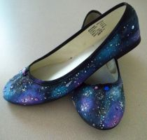 So Sorry I'm Flawless Galaxy Shoes by poisons-sanity