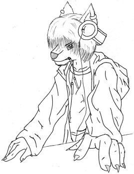 Furry DJ Version 2 Inked by FoxRaver