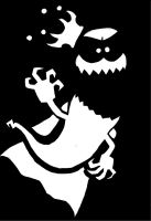 King Ghost stencil/minimalist/ paper cut numbah 2 by EB-the-GAMER