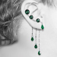 Emerald steampunk ear wrap- SOLD by YouniquelyChic