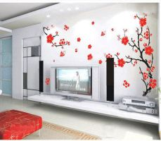 Cherry Blossom Tree Wall Stickers by amandabetty