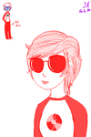 (Fem) Dave Strider by Jerena